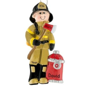 Firefighter Ornaments Archives - Personalized Ornaments For You